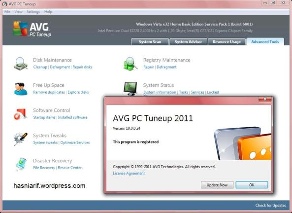 avg pc tuneup 2011 free download